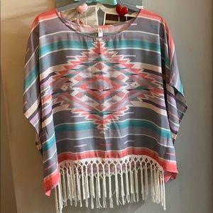 Aztec flows shirt